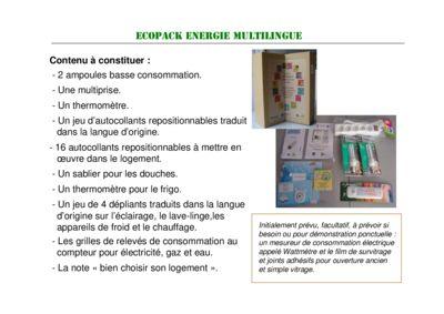 thumbnail of Mallette énergie ecopack