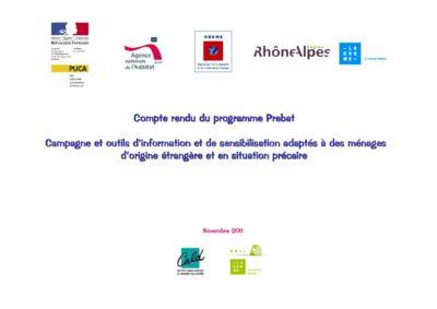 thumbnail of Bilan du programme