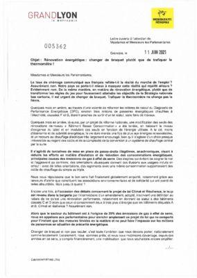 thumbnail of LT45 Lettre ouverte aux parlementaires .- Performance énergétique des lo…